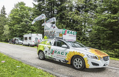 Fahrzeug RAGT Semences - Tour de France 2014 Lizenzfreie Stockfotos