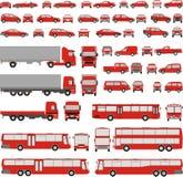Fahrzeug-sortierte Schattenbilder Stockfoto