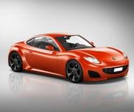 Fahrzeug-Transport-Illustrations-Konzept des Sportwagen-3D Stockfoto