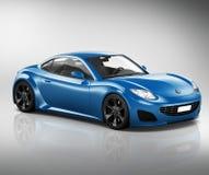 Fahrzeug-Transport-Illustrations-Konzept des Sportwagen-3D Stockbild