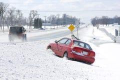 Fahrzeug verliert Steuerung Stockbild