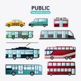 Fahrzeugdesign des öffentlichen Transports Stockbild