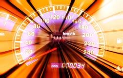 Fahrzeuggeschwindigkeit Stockfoto