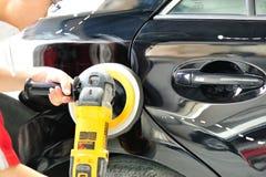 Fahrzeugkarosseriearbeit Stockbild