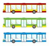Fahrzeugsatz - kurzer Bus vektor abbildung