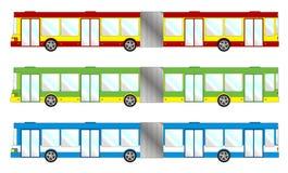 Fahrzeugsatz - langer Bus vektor abbildung