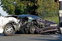 Fahrzeugunfall Stockfotografie