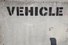 Fahrzeugzeichenstempelanschlagtafel oder -hintergrund Lizenzfreies Stockbild