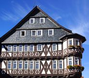 Fahverk house in the Historical center of Alsfeld. Stock Photos
