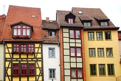 Fahverk houses in the Erfurt, Germany Royalty Free Stock Photo