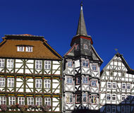 Fahverk Houses on Market square (Marktplatz).  Fritzlar Royalty Free Stock Images
