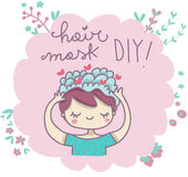 Fai-da-te della maschera dei capelli Fotografia Stock