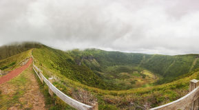 Faial, Azores, Panoramic view of the Caldera Royalty Free Stock Images