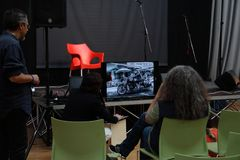 FAIBLE - Secteur des fabricants indépendants Alberto Fanelli : ` de stéré0grammes du ` 3D Image libre de droits