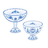 Faience cups vector Stock Image