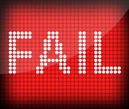 Fail. The word Fail on a red background royalty free illustration