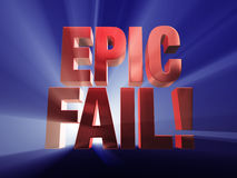 Fail Big Time! Royalty Free Stock Images