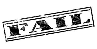 Fail black stamp Royalty Free Stock Images