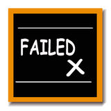 Fail blackboard Royalty Free Stock Photos