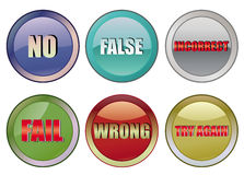 Fail buttons Royalty Free Stock Photos