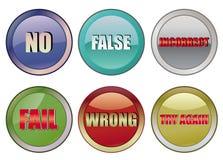 Fail buttons. Set of fail buttons, illustration vector illustration