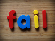 Fail concept Royalty Free Stock Photos