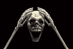Fail Expression. A skull with fail expression Stock Photography