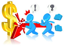 Fail Finance Business. Finance Business  Three dimension style and High Quality Image Royalty Free Stock Image