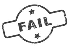 Fail stamp. Fail grunge vintage stamp isolated on white background. fail. sign royalty free illustration