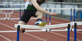 Fail at hurdle race Royalty Free Stock Image