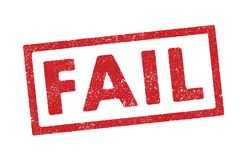 Fail ink stamp. Vector illustration of the word Fail in red ink stamp royalty free illustration