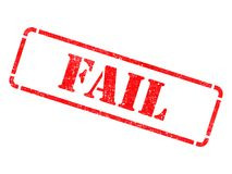 Fail - Inscription on Red Rubber Stamp. royalty free stock photos