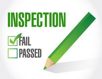 Fail inspection check list illustration design Stock Image
