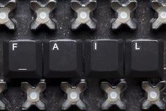 Fail - komputerowi klucze Zdjęcie Stock