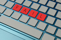 Fail an online test Stock Photography