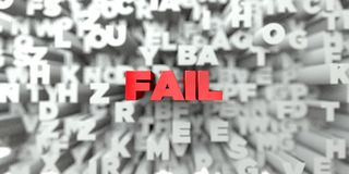 FAIL -  Red text on typography background - 3D rendered royalty free stock image Stock Photo