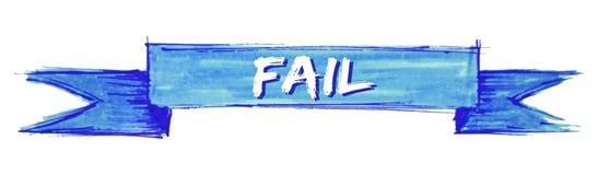 Fail ribbon. Fail hand painted ribbon sign vector illustration