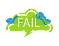 Fail speech bubble with expression text Royalty Free Stock Photo