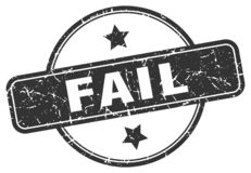 Fail stamp. Fail grunge vintage stamp isolated on white background. fail. sign vector illustration