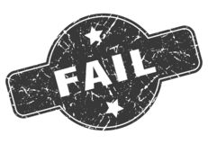 Fail stamp. Fail grunge vintage stamp isolated on white background. fail. sign stock illustration