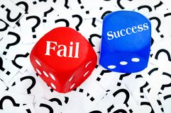 Fail or Success word Stock Photos