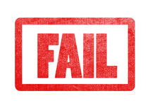 Fail text sign label stamp. Stock Image