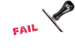 Fail text sign label stamp Stock Image