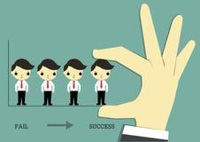 Fail to success with teamwork Stock Photo