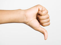 Failed. A hand giving failed sign royalty free stock images