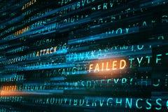 Failed attack backdrop. Creative hacking backdrop. Failed attack concept. 3D Rendering stock photography