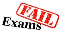 Failed Exams. Close-up of a Failed Exam Paper Stock Photos