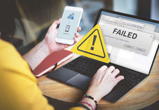 Failed Fail Failing Fiasco Inability Unsuccessful Concept Royalty Free Stock Photos