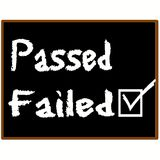 Failed grade graphic. In chalk lettering. Black background Stock Photography