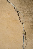 Failed repair in crack. A failed attempt to repair a crack in concrete Royalty Free Stock Photo